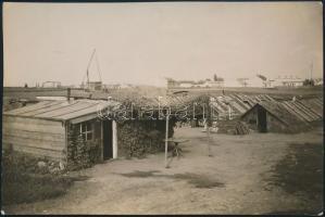 cca 1935 Kinszki Imre (1901-1945) budapesti fotóművész hagyatékából, jelzés nélküli vintage fotó (Zuglói bolgár kertészet), 5,5x8,5