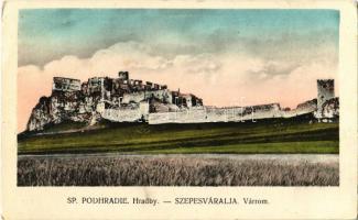 1923 Szepesváralja, Spisské Podhradie; Szepes vára. Kiadja Jan Dolák / Zipser Schloss / Spissky hrad / castle (EK)