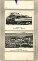 1906 Szepesváralja, Spisské Podhradie; Szepes vára, látkép. Kiadja Sax Nándor / Zipser Schloss, Stadt Kirchdrauf / Spissky hrad / castle, general view (EB)