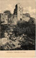 Stomfa, Stupava; Pozsonyborostyánkő vára. Kiadja A. Wiesner 59. / Hrad Pajstún (Stupavsky Podzámok, Borinka) / castle ruins
