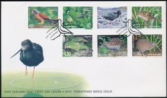 Threatened birds FDC, Veszélyeztetett madarak FDC