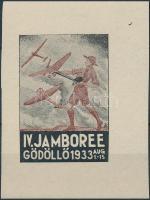1933/7a Cserkész IV. Jamboree Gödöllő, repülők emlékív (100.000) / Scout Jamboree