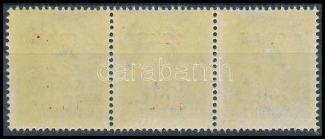 1945 Kisegítő 50f/50f hármascsík kétoldali alapnyomattal