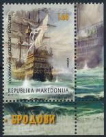 Ship corner stamp, Hajó ívsarki bélyeg