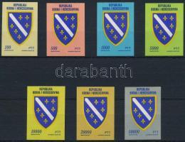 City coats of arms set, Városcímer sor