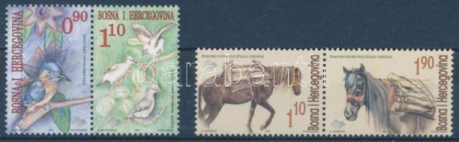 Bird and horse set in pairs, Madár és ló sor párokban