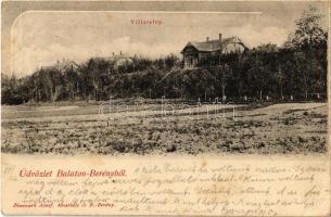 1905 Balatonberény, villatelep, villák, nyaralók. Kiadja Neumark Adolf (EB)