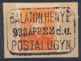 BALATONHENYE postaügynökségi bélyegzés