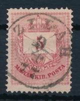 1874 5kr a gyöngy és az alsó háromszögeknél vésésjavítás (ex Lovász)