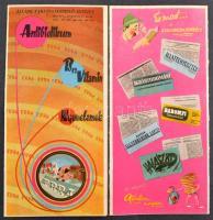 1962 Az Állami Vakcinatermelő Intézet bemutatkozó albuma, benne 23 db vintage fotó (9x12 cm és 18x24 cm között) + 18 db ismeretterjesztő és reklám kiadvány, szórólap, + 3 db kártyanaptár, az album mérete 24x35 cm