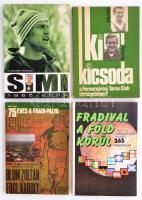 4 db fradis könyv: T, Hámori Ferenc: Simi, Ki kicsoda a Ferencvárosi Torna Club Történetében, Nagy Béla: 75 éves a Fradi pálya, Fradival a Föld körül,