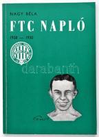 Nagy Béla: FTC napló 1928-30. Kiadói papírkötés