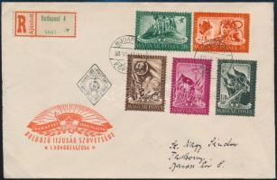 1950 DISZ sor ajánlott FDC