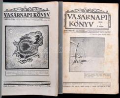 1928 Vasárnapi könyv. 1928. I. és II. félév. Teljes, XVIII. évfolyam. Papírkötésben, két kötetben.