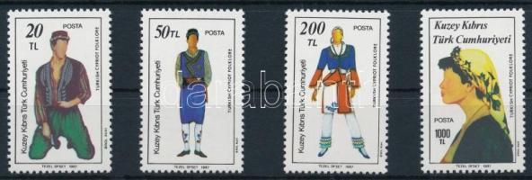 1987 Népművészet sor, Folklore set Mi 207-210