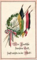 Military propaganda, Military WWI, flags, Emb. litho