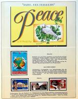 Nemzetközi békeév 1986 tartalmas világ motívumgyűjtemény Sieger falcmentes előnyomott albumban / International Year of the Peace, thematic world collection in special album