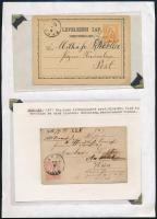 Egy db 1871-es levelezőlap + egy db levél Kőnyomat 5kr bélyeggel