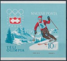 1964 Téli Olimpia (II.) - Innsbruck vágott blokk (6.000)