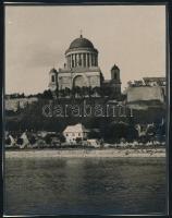 1929 Esztergom, feliratozott vintage fotó, 23x18 cm