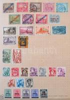 1850-1950 Közel 700 oldalas világgyűjtő album több mint 8.200 bélyeggel, közte jobb értékek, tengerentúl, szép Európa rész