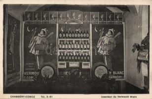 Chambery-Comoz, Inventeur de Vermouth Blanc /  Inventor of White Vermouth, factory advertisement