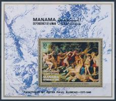 1971 Rubens festmények blokk, Rubens paintings block Mi 100 A