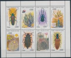 1995 Kaktuszok és bogarak kisív, Cacti and beetles mini sheet Mi 1658-1665