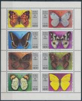 1994 Lepkék kisív, Butterflies mini sheet Mi 1612-1619