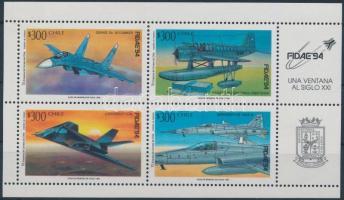1994 Repülőgépek kisív, Airplanes mini sheet Mi 1597-1600