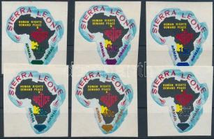1970 Légiposta bélyegek öntapadós sor, Airmail stamps self-adhesive set Mi 475-480