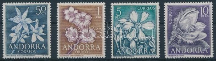 1966 Virág sor, Flowers set Mi 67-70
