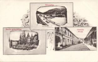 Oravita, mine valley, spa, street, hotel Art Nouveau, Oravica, Bányavölgy, Marilla gyógyintézet, Fő utca, Korona szálló Art Nouveau, kiadja Káden József