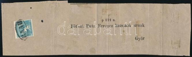 1851 I. tipusú Merkur Hírlapbélyeg teljes címszalagon RAAB