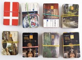 ~317db román, magyar, francia, vonalas telefonkártya és mobil feltöltő kártya tétel
