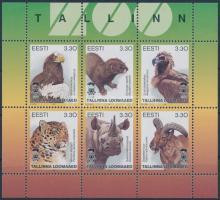 Animals mini sheet, Állatok kisív