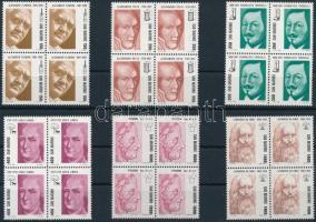 Pioniere der Wissenschaft set in blocks of 4, A tudomány úttörői sor négyestömbökben