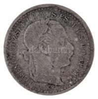 1875KB 10kr Ag Váltó Pénz T:2-,3  Hungary 1875KB 10 Kreuzer Ag Valtó Pénz C:VF,F Adamo M10.1