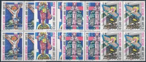 1983 A megváltás Szent éve sor négyestömbökben, Holy Year of Salvation set in block of 4 Mi 816-819