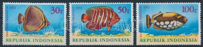 1972 Halak sor, Fishes set Mi 722-724