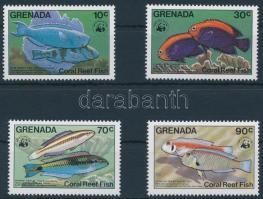 1984 WWF Halak sor, WWF Fishes set Mi 1299-1302