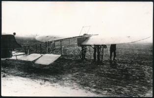 cca 1909 Blériot XI, a francia Louis Blériot repülőgépe, modern előhívás, 9×14 cm