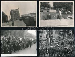 5 db fotó a szocializmus korszakából, 9×12 cm