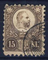 1871 Réznyomat 15kr varrat vízjellel / Mi 12 with soldered seam watermark (Ladurner)