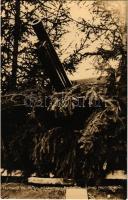 Löveg repülők ellen (légvédelmi ágyú). Hofmann cs. és kir. altábornagy hadtestje felvétele. Hadifénykép Kiállítás / WWI Austro-Hungarian K.u.K. military, anti-aircraft gun, cannon