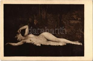 Nude lady, vintage erotic postcard. Phot. Schieberth. Kilophot A.3. (EK)