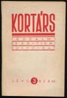 1957 Kortárs folyóirat I. évf. 1. és 3 sz. 1957. szept., nov. Kissé foltos papírkötésben.