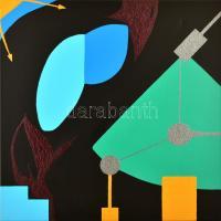 Barabás Roland (1976-): Rendszerek védelme. Akril, vászon, jelzett, 80×80 cm