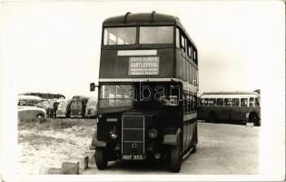 Hartlepool, double-decker bus, photo (non PC)