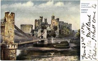1904 Conwy, Conway castle; Raphael Tuck & Sons Picturesque Castles Series 794.